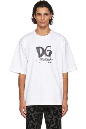 Dolce & Gabbana Men T-shirts - White Cotton Logo T-Shirt