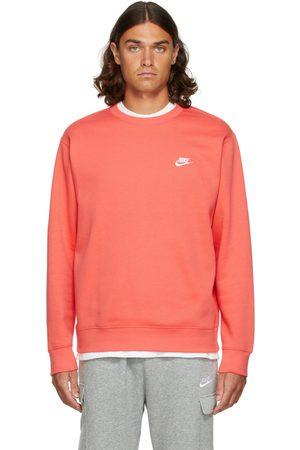 Nike Men Sports Hoodies - Pink Fleece Sportswear Club Sweatshirt