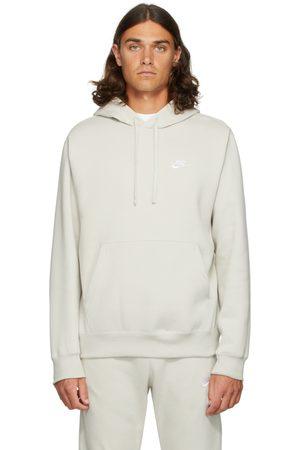 Nike Men Hoodies - Beige Fleece Sportswear Club Hoodie