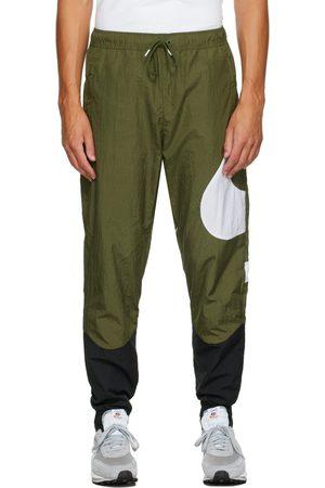 Nike Men Sweats - Green & Black Swoosh Sportswear Lounge Pants