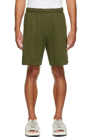 Nike Men Sports Shorts - Green Fleece Sportswear Club Cargo Shorts