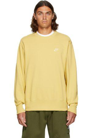 Nike Men Sports Hoodies - Yellow Classic Sportswear Sweatshirt
