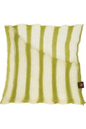 Vitelli Men Scarves - SSENSE Exclusive Green Elongated Trapezium Scarf