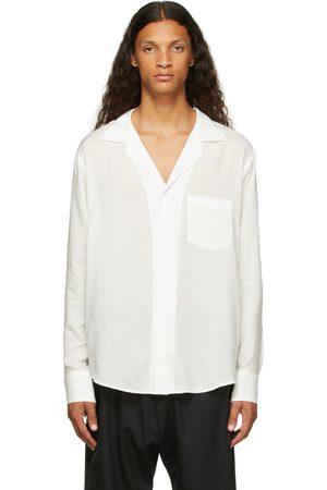 Sulvam Men Shirts - & Silver Rayon Open Collar Shirt