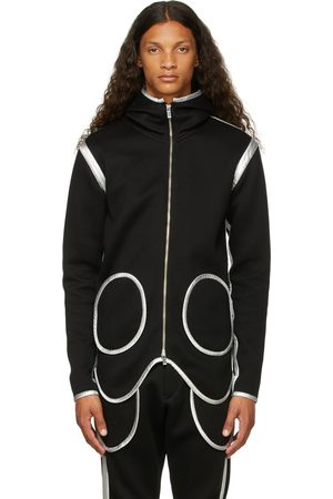 Sulvam Men Hoodies - Circle Double-Face Jersey Zip-Up Hoodie