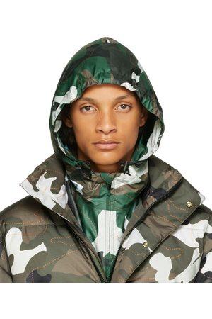 Kanghyuk Men Scarves - Green Ripstop Camo Hood