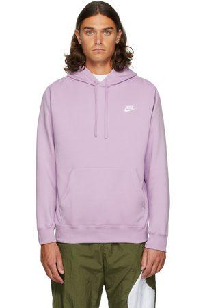 Nike Men Hoodies - Purple Fleece Sportswear Club Hoodie
