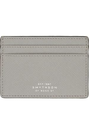 SMYTHSON Men Wallets - Grey Panama Card Holder