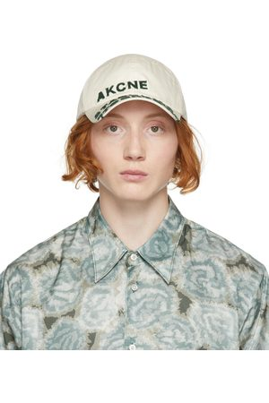 Acne Studios Men Caps - Off-White Poplin Baseball Cap