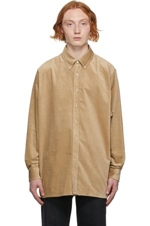 Acne Studios Men Shirts - Beige Corduroy Shirt
