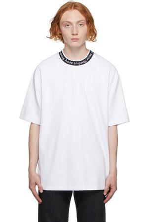 Acne Studios Men T-shirts - White Logo Binding T-Shirt