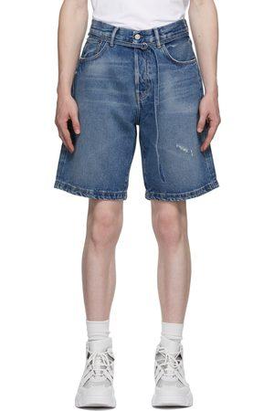 Acne Studios Men Jeans - Blue Denim Belted Shorts