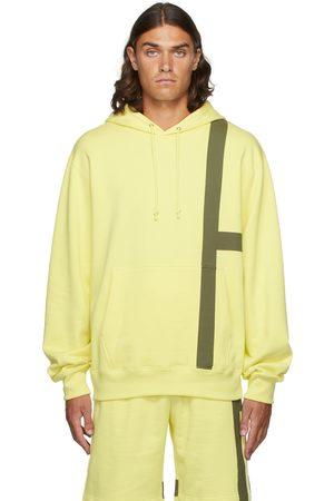 Helmut Lang Men Hoodies - Yellow Stripe Hoodie