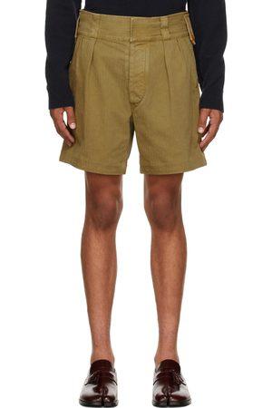 Maison Margiela Khaki Cotton Shorts