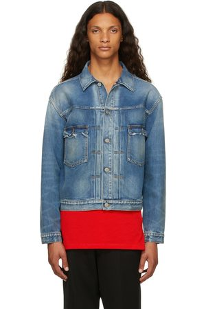 Maison Margiela Men Denim Jackets - Blue Denim Kaban Jacket