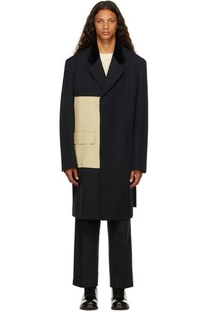 Maison Margiela Men Coats - Navy Twill Coat