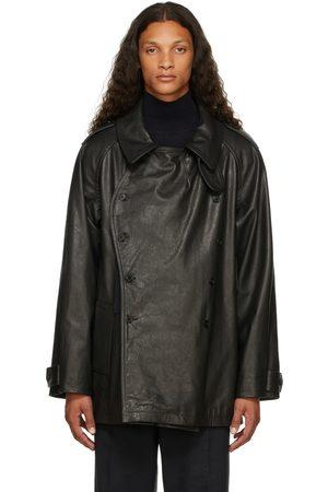 Maison Margiela Men Leather Jackets - Black Leather Kaban Jacket