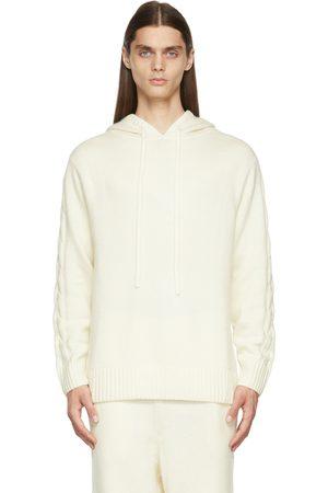 Nahmias Men Hoodies - Off-White Full Fashion Hoodie