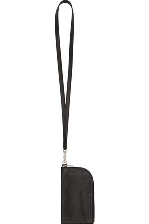 Rick Owens Men Wallets - Black Leather Neck Wallet