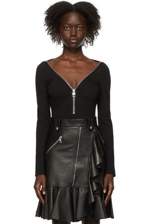 Alexander McQueen Women Bodies - Black Jersey Bodysuit
