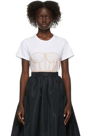 Alexander McQueen Women Corsets - White Bustier Print T-Shirt
