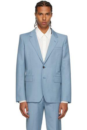 Alexander McQueen Men Blazers - Blue Mohair Blazer