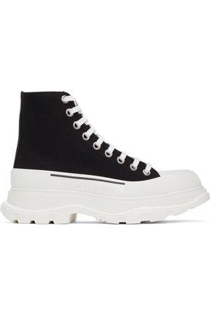 Alexander McQueen Men Sneakers - Black Tread Slick High Sneakers