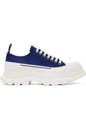 Alexander McQueen Men Sneakers - Blue Tread Slick Low Sneakers