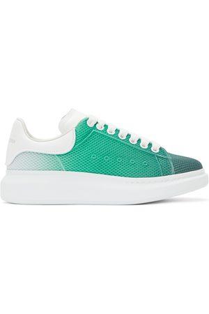 Alexander McQueen Men Sneakers - Green & White Degradé Oversized Sneakers