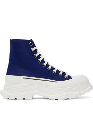 Alexander McQueen Men Sneakers - Blue Tread Slick High Sneakers