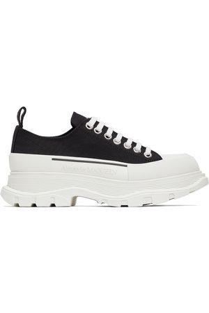 Alexander McQueen Men Sneakers - Black Tread Slick Low Sneakers