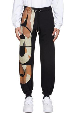 GCDS Men Sweats - Black Cow Logo Lounge Pants