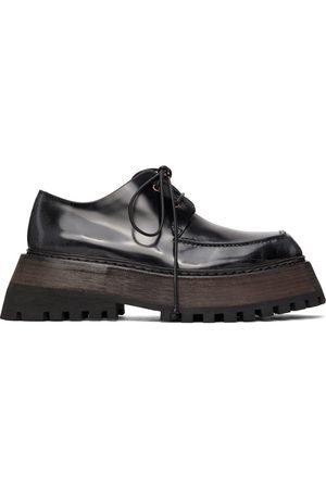 MARSÈLL Women Formal Shoes - Black Quadrarmato Derbys