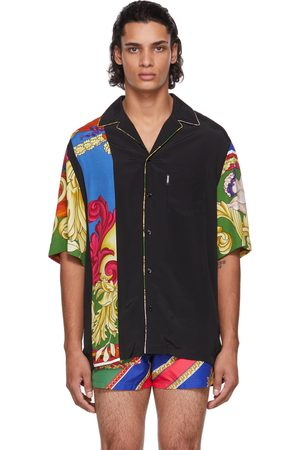VERSACE Men Short sleeves - Black Medusa Renaissance Short Sleeve Shirt