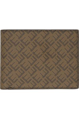 Dunhill Men Wallets - Beige & Brown Signature Bifold Wallet
