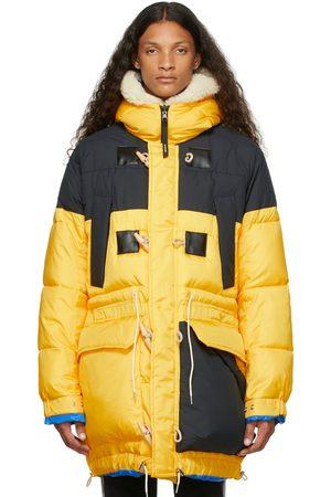 SACAI Men Jackets - Reversible Yellow & Black Insulated Jacket