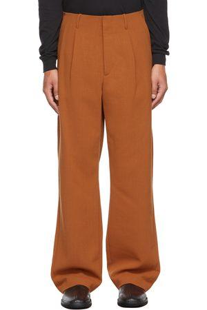 Auralee Men Wide Leg Pants - Orange Wide-Leg Trousers