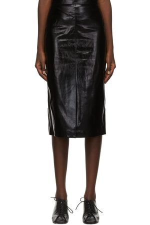 Foundrae Women Leather Skirts - Faux-Leather Miell Skirt