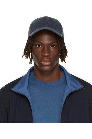 Loro Piana Men Caps - Blue Cashmere Baseball Cap