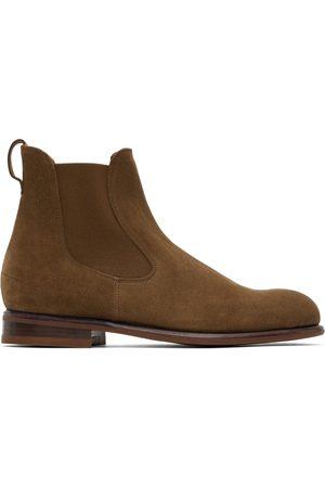Loro Piana Men Chelsea Boots - Brown Suede Lp City Beatle Walk Chelsea Boots