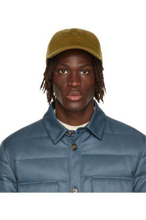 Loro Piana Men Caps - Khaki Cashmere Baseball Cap
