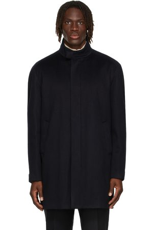 Loro Piana Men Coats - Navy Cashmere Turati Coat