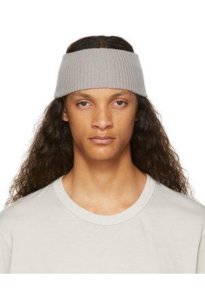 11 BY BORIS BIDJAN SABERI Men Headbands - Grey Cashmere Rib Knit Headband