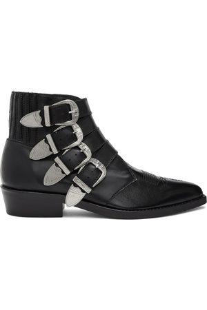 TOGA VIRILIS Men Cowboy Boots - Four Buckle Western Boots