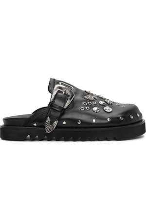 TOGA VIRILIS Men Clogs - Leather Studded Clogs