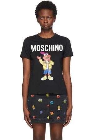 Moschino Women T-shirts - Black Sesame Street Edition Elmo T-Shirt