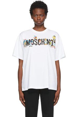 Moschino White Sesame Street Edition Logo T-Shirt