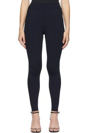 Victoria Beckham Women Leggings - Navy Knit Leggings
