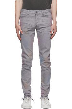 JOHN ELLIOTT Men Jeans - Grey & Pink Dye 'The Cast 2' Jeans