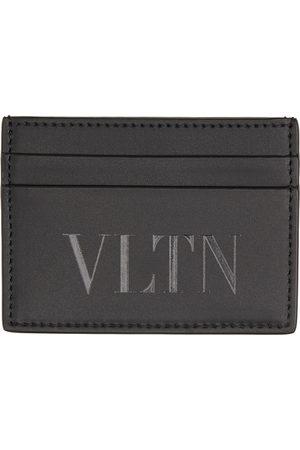 VALENTINO GARAVANI Men Wallets - Black Monotone 'VLTN' Card Holder